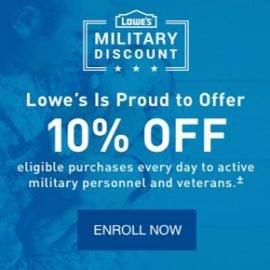 Lowe's Military, Retiree, & Veteran Discount