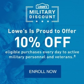 Lowe's Military, Retiree, & Veteran Discount