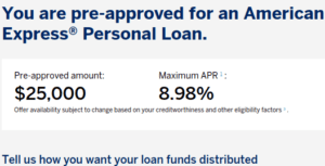 American Express Personal Loan for Active Duty MIlitary