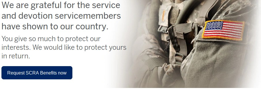 Request AMEX SCRA benefits for a military spouse