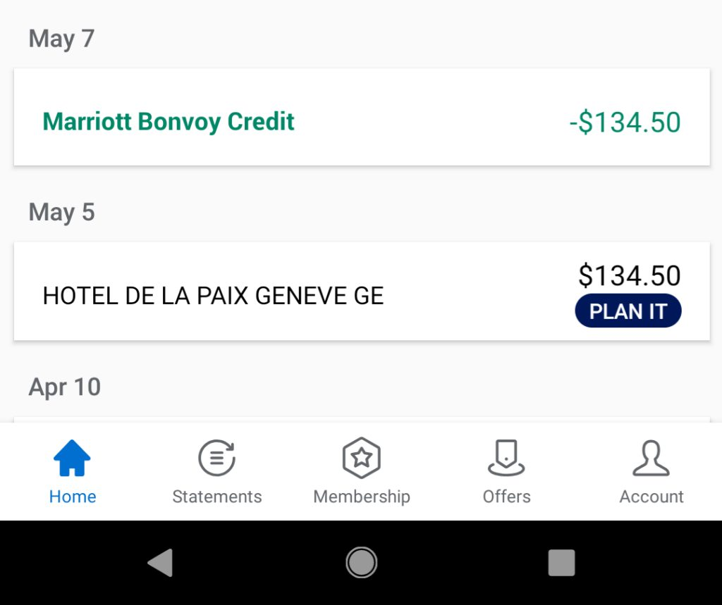 AMEX Marriott Bonvoy Brilliant $300 Marriott Credit Time to Post