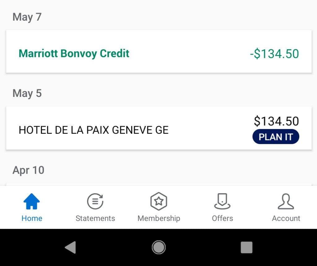 AMEX Marriott Bonvoy Brilliant $300 Marriott Credit Time to Post