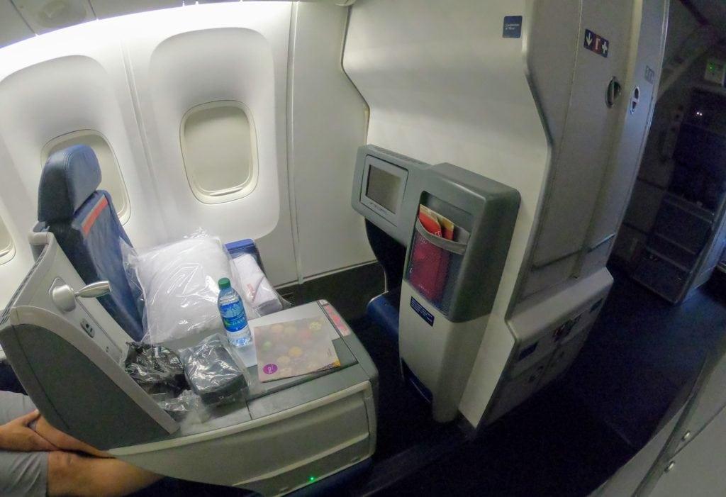 seat 1A delta one hnl-atl delta 836 767-400